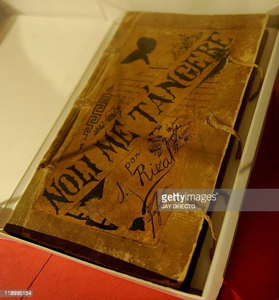 FEATURE by Cecil Morella In this photo taken June 17 one of the two restored handwritten novels the original editions of national hero Jose Rizal's...