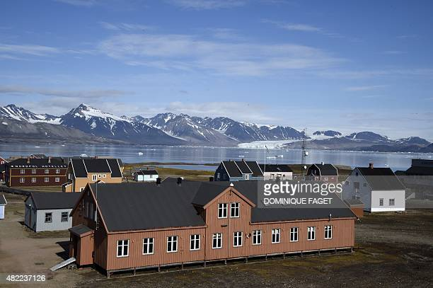 STORY by Celine Serrat A picture taken on July 22 2015 shows the scientific base of Ny Alesund in the Svalbard archipelago The fjord has failed to...
