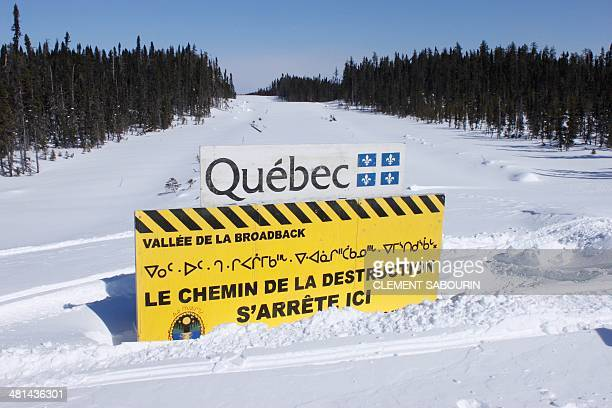 STORY by Clement Sabourin Canadaforestryenvironmenthuntingnative A sign erected in 2010 in the middle of a road in Canada's Broadback Valley by...