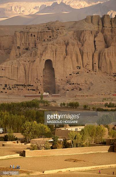 STORY 'AFGHANISTANARCHAEOLOGYBUDDHISMUNREST' by Danny Kemp and Sardar Ahmad This photograph taken on October 16 2008 shows the cavemonasteries of...