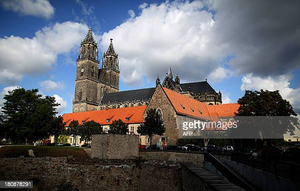 STORY by DEBORAH COLE Magdeburg's landmark the Cathedral of Saints Catherine and Maurice is seen in Magdeburg eastern Germany on September 17 2013...