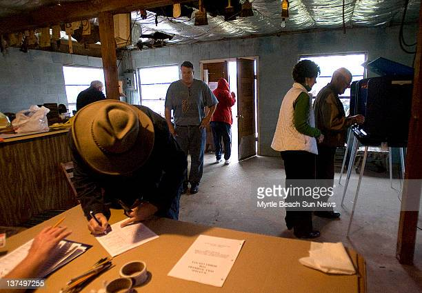 By early afternoon more than 100 people had turned out to vote in the South Carolina Republican presidential primary at the Jernigan's Crossroads...