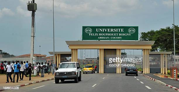 STORY by Evelyne AKA This picture taken on May 17 2013 show the entrance of the Felix HouphouetBoigny University in Abidjan's Cocody district the...