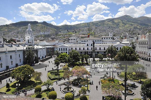 SPANISH by Hector Velasco Picture of Quito's Plaza Grande square taken on September 12 in a week in which the Ecuadorean capital celebrates its 30th...