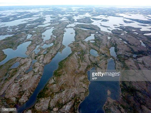 STORY by Jacques Lemieux CanadaminingresourcesArctic This August 31 2011 file photo shows an aerial view of Quebec's tundras north of the 60th...