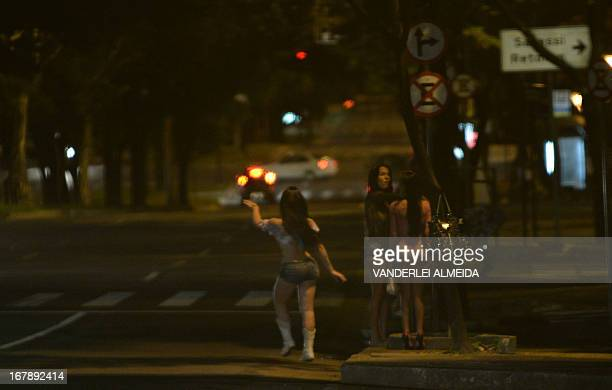 STORY by Javier Tovar Prostitutes and tranvestites wait for clients in the streets of Belo Horizonte Minas Gerais State Brazil on April 25 2013 Sex...