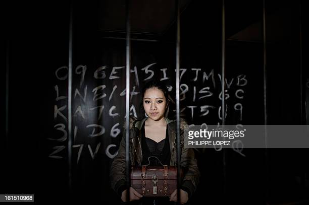 ESCAPE by Joe Sinclair In this picture taken on January 28 Elly Chau part of the Freeing HK staff holds a chest inside one of the rooms of the...