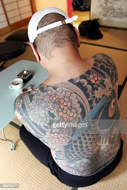 STORY 'JAPANECONOMYFINANCECRIMEYAKUZA' By Kimiko de FreytasTamura A retired Japanese yakuza crime boss who does not want to be identified shows his...