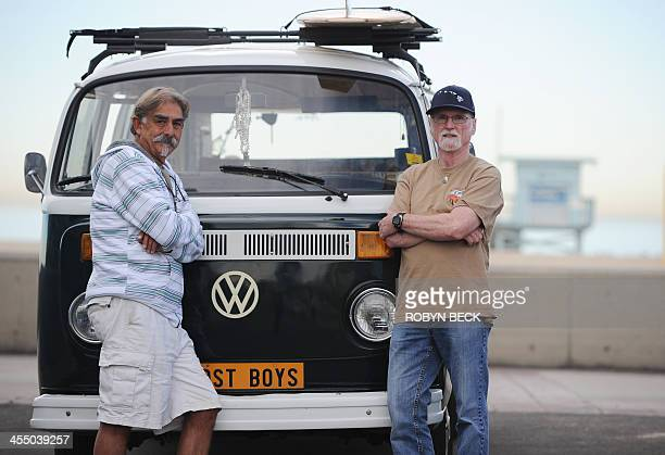 STORY by Leila MACOR LifestyleUStransportautosurf Frank Paine and Doug Ball pose beside Paine's 1974 Volkswagen Kombi in Hermosa Beach California on...