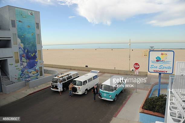 STORY by Leila MACOR LifestyleUStransportautosurf Frank Paine Doug Ball and Fred Tisue pose beside their Volkswagen Kombis in Hermosa Beach...