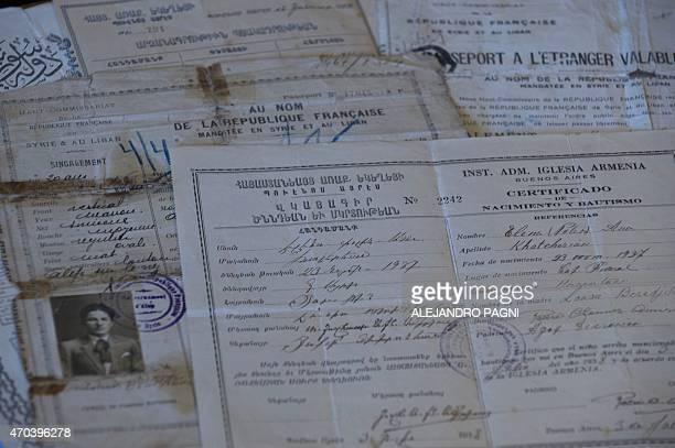 STORY by Liliana Samuel Picture of official documents from different countries belonging to Armenian Lucin Khatcherian the sole survivor of the...