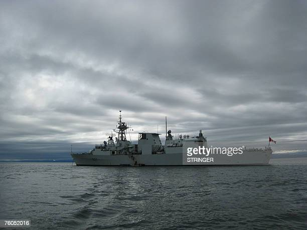 STORY by Michel Comte CanadaArcticmilitary HMCS Fredericton is on maneuvers in Frobisher Bay at the southern tip of Baffin Island Canada taking part...