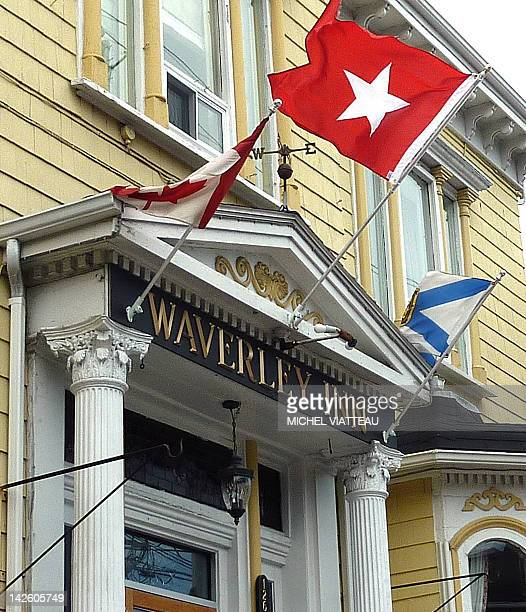 STORY by Michel Viatteau Titanichistory100yearsdisasterCanada The Waverley Inn in Halifax Canada displays the flag of the White Star Line the owner...