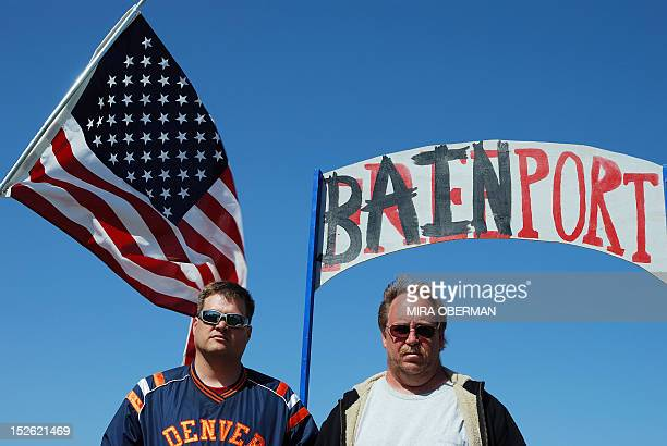 STORY by Mira Oberman USvoteRepublicansRomneycutseconomyBain Sensata Technologies workers Mark Schreck and Tom Gaulrapp stand at the entrance to a...
