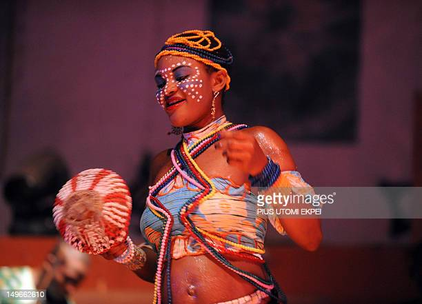 STORY by MJ Smith Femi Kuti's dancer entertains the audience at the New Afrika Shrine in Lagos on July 29 2012 Nigeria marks on August 2 2012 fifteen...