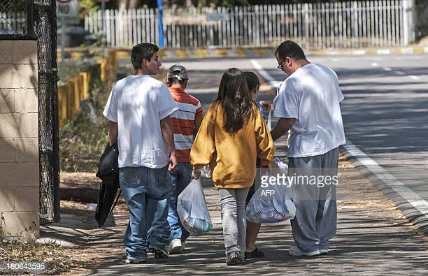 STORY by Oscar Batres Salvadorans deported from the US accompanied by family members leave Comalapa International Airport 44 km south of San Salvador...