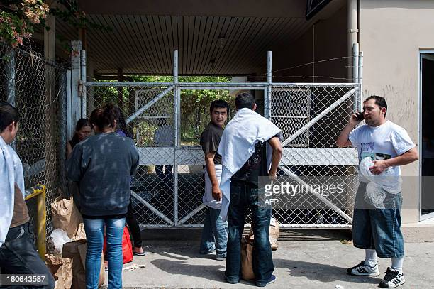 STORY by Oscar Batres Salvadorans deported from the US pick up their belongings at the immigration office of Comalapa International Airport 44 km...
