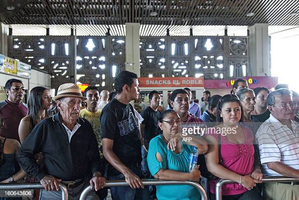STORY by Oscar Batres Salvadorans wait for their loved ones some deported from the US at Comalapa International Airport 44 km south of San Salvador...