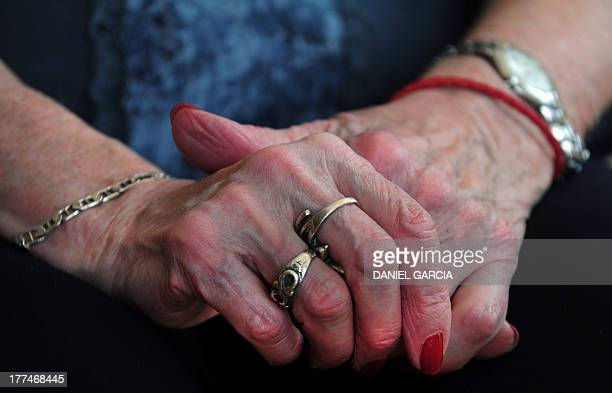 STORY by Oscar Laski Picture of the hands of Sara Rus member of the Argentine Mothers of the Plaza de Mayo human rights organization and survivor of...