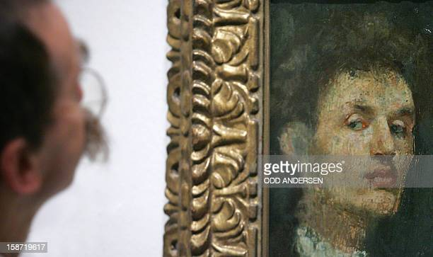 STORY by PIERREHENRY DESHAYES FILES An art critic eyes Edvard Munch's 'Self portrait' hanging in the Royal Academy of Arts in London 27 September...