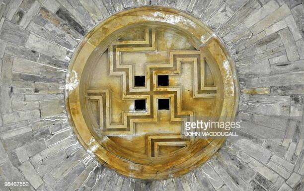 STORY by RICHARD CARTER A Swastika adorns the ceiling of the 'Crypt' designed in one of the Wewelsburg castle's towers by SS leader Heinrich Himmler...