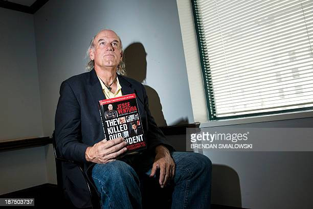 By Romain Raynaldy USKennedy50yearscinemabooks Former pro wrestler and Governor of Minnesota from 1999 to 2003 Jesse Ventura pauses while speaking...