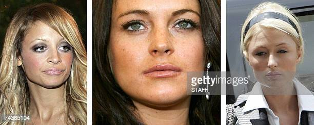 STORY by Tangi Quemener Entertainmentdrugcrime The file photos show actress Nicole Richie in Los Angeles on 20 September 2006 actress Lindsay Lohan...