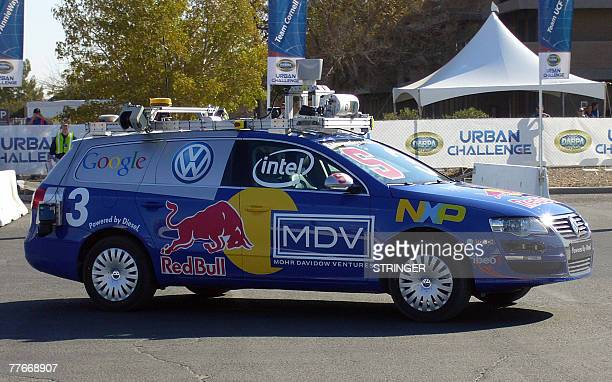 """By Tangi Quemener, US-military-technology """"Junior"""", a 2006 Volkswagen Passat Station wagon diesel, heavily modified and robotized by a team of..."""