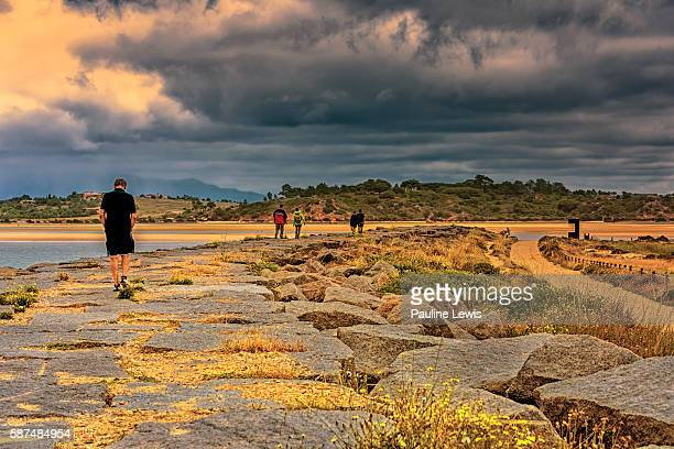 by the estuary - alvor stock pictures, royalty-free photos & images