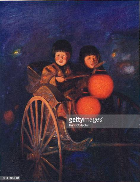 By the Light of the Lanterns' c1887 From Japan A Record in Colour by Mortimer Menpes [Adam Charles Black London 1901] Artist Mortimer L Menpes