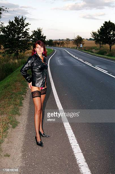 by the road - prostitutie stockfoto's en -beelden