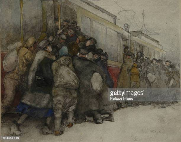 By the Tram 1920 Found in the collection of the State Tretyakov Gallery Moscow
