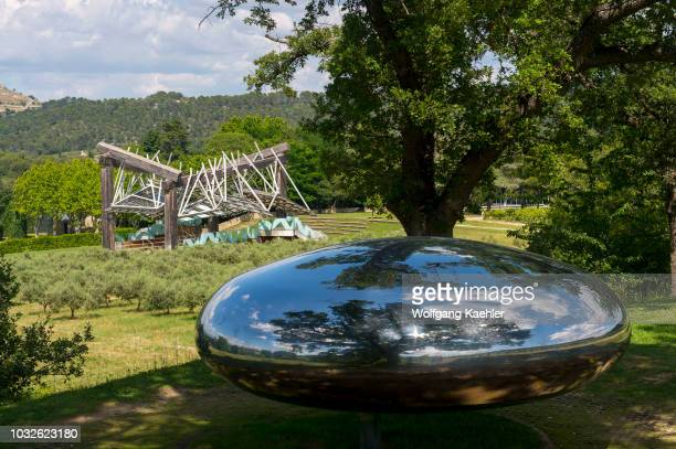 DROP by Tom Shannon and the Pavillon de Musique by Frank O Gehry at the Chateau la Coste near AixenProvence in the Provence France
