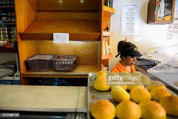 STORY by Valentina Oropeza and Ernesto Tovar Empty shelves can be seen at a bakery in Caracas on February 25 2016 On any given day people in...
