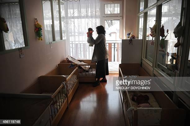 STORY by Vessela Sergueva Picture taken on on February 15 shows Valentina Liharska manager of the Saint Ivan Rilski home for medical and social care...