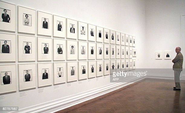 POLITICS by Virginie Montet A man looks at portraits by photographer Richard Avedon on September 10 2008 during a press preview at the Corcoran...