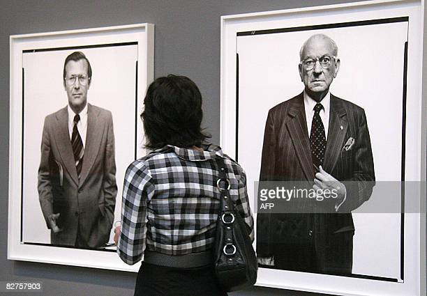 POLITICS by Virginie Montet A woman looks at portraits by photographer Richard Avedon September 10 2008 during a press preview at the Corcoran...