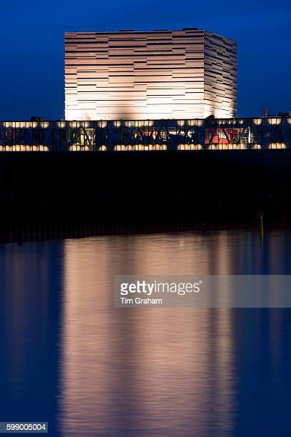 By waterfront The Royal Playhouse building by Lundgaard and Tranberg architects on June 21 2015 in Copenhagen Denmark