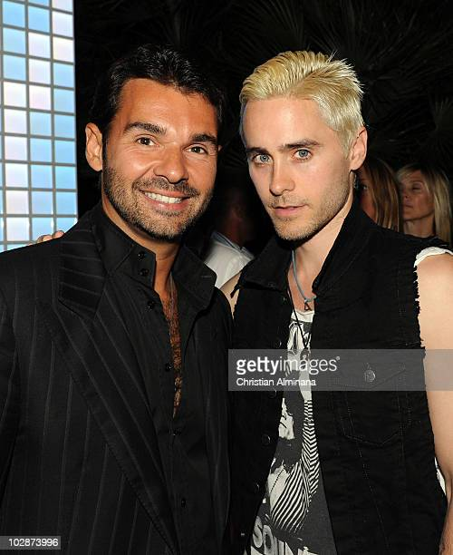 Byblos Hotel owner Antoine Chevanne and Jared Leto attend the Byblos Summer Party at Byblos Hotel on July 13 2010 in SaintTropez France