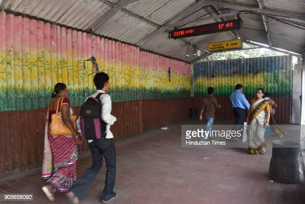 Byculla Railway Station on January 15 2018 in Mumbai India The 157yearold Byculla station will soon be restored to its former glory as the heritage...