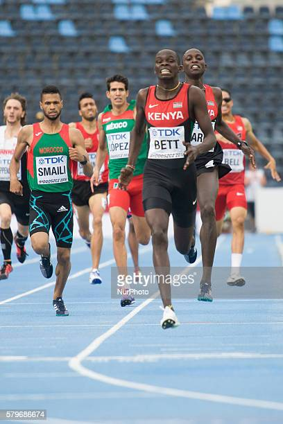 Bydgoszcz, July 24 2016. Kipyegon Bett is seen winning the men's 800 meter final on Sunday. From Tuesday until Sunday the IAAF organised the under 20...