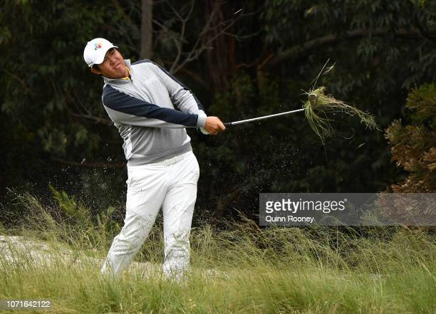Byeong Hun An of Korea plays out of the rough during day three of the 2018 World Cup of Golf at The Metropolitan on November 24 2018 in Melbourne...