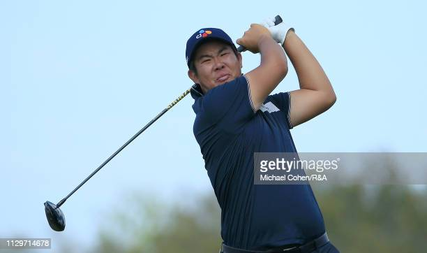 Byeong Hun An of South Korea hits his drive on the eighth hole during The Open Qualifying Series part of the Arnold Palmer Invitational at Bay Hill...