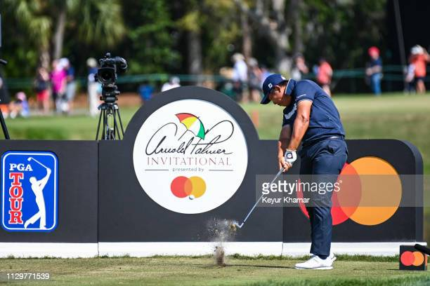 Byeong Hun An of South Korea plays his shot from the 14th tee during the final round of the Arnold Palmer Invitational presented by MasterCard at Bay...