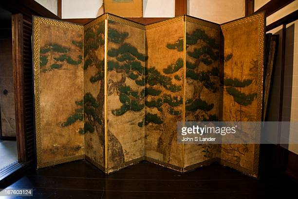 Byobu Japanese Folding Screen at Shunkoin a subtemple of Myoshinji Temple was one of the most important places for Japanese Zen Buddhism in the early...