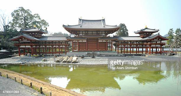 Byodoin temple's Phoenix Hall is seen on March 17 in Uji Kyoto Japan A nearly 1000yearold temple hall here has undergone a major facelift to show its...