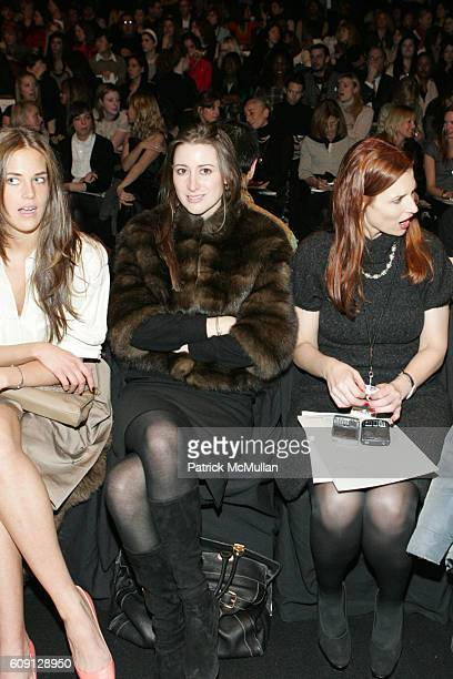 Byrdie Bell Alexis Bryan and attend BCBG Max Azria Spring 2007 Collection at The Tent on February 2 2007 in New York City