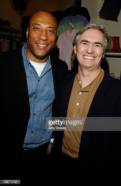 Byron Allen and David Steinberg during Kathy Freston Book Signing Party At Tracey Ross Boutique at Tracey Ross Boutique in West Hollywood California...