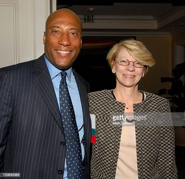 Byron Allen and Jean Prewitt president IFTA during 8th Annual Independent Film and Television Alliance Production Conference in Los Angeles...