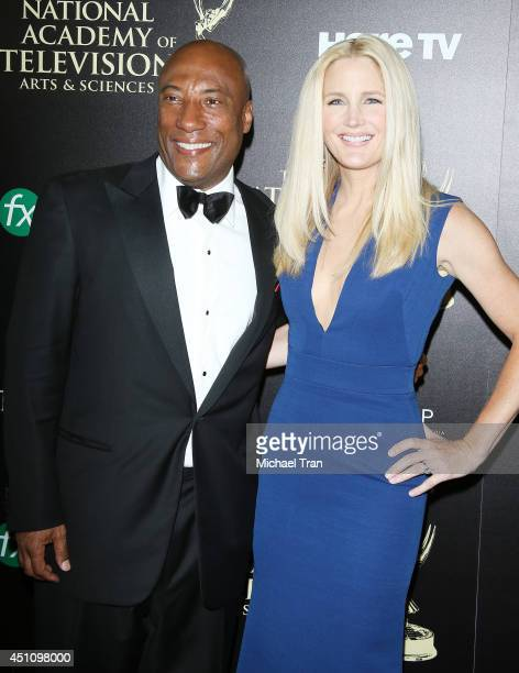 Byron Allen and Jennifer Lucas arrive at the 41st Annual Daytime Emmy Awards held at The Beverly Hilton Hotel on June 22 2014 in Beverly Hills...